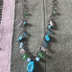 Jewelry - Sterling silver turquoise and colored beads.